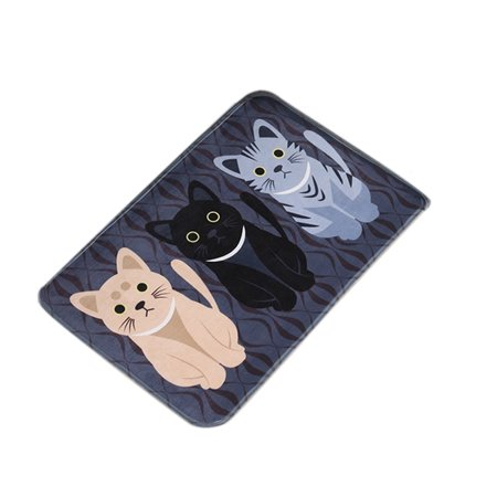 - New Fashion Floor Mats Cartoon Cushion Cat Printed Carpets Doormats For Kitchen Bathroom Living Room Anti-Slip Pad