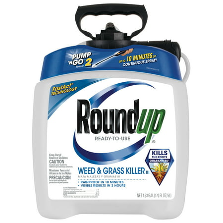 Roundup Ready-To-Use Weed & Grass Killer III with Pump 'N Go 2 Sprayer, 1.33