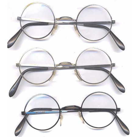 Silver Round Style Clear Glasses John Lennon Harry Potter Metal ...