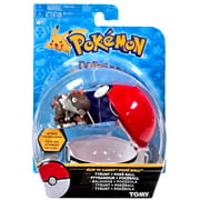 Pokemon TOMY Clip n Carry Pokeball Tyrunt & Poke Ball Figure Set