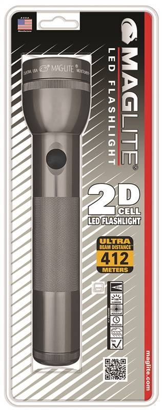 Maglite LED 2-Cell D Flashlight, Gray by MagLight