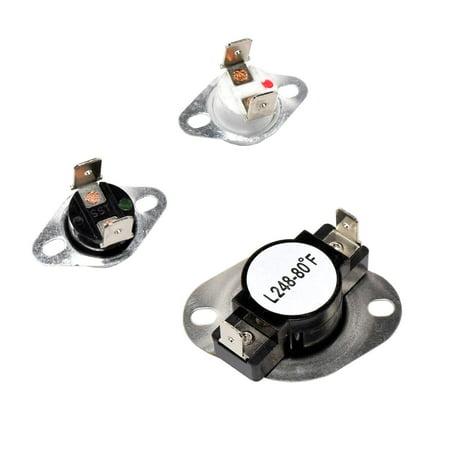 HQRP Dryer Thermostat & Thermal Fuse Kit for Magic-Chef CYE1000AYW CYE2000AKW CYE2000AYA CYE2000AYW CYE2000AZW CYE3004AGW plus HQRP Coaster