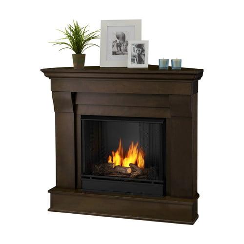 real chateau corner gel fuel fireplace walmart