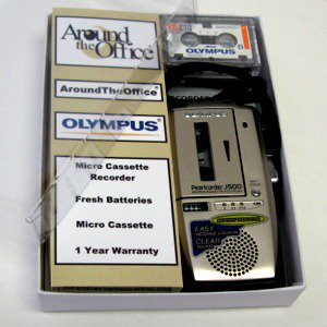 J-500 Olympus Microcassette Voice Recorder J500 Gift Boxed by Around the Office by