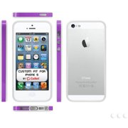 Cellet Bumper Proguard Case for Apple iPhone 5, Purple/White
