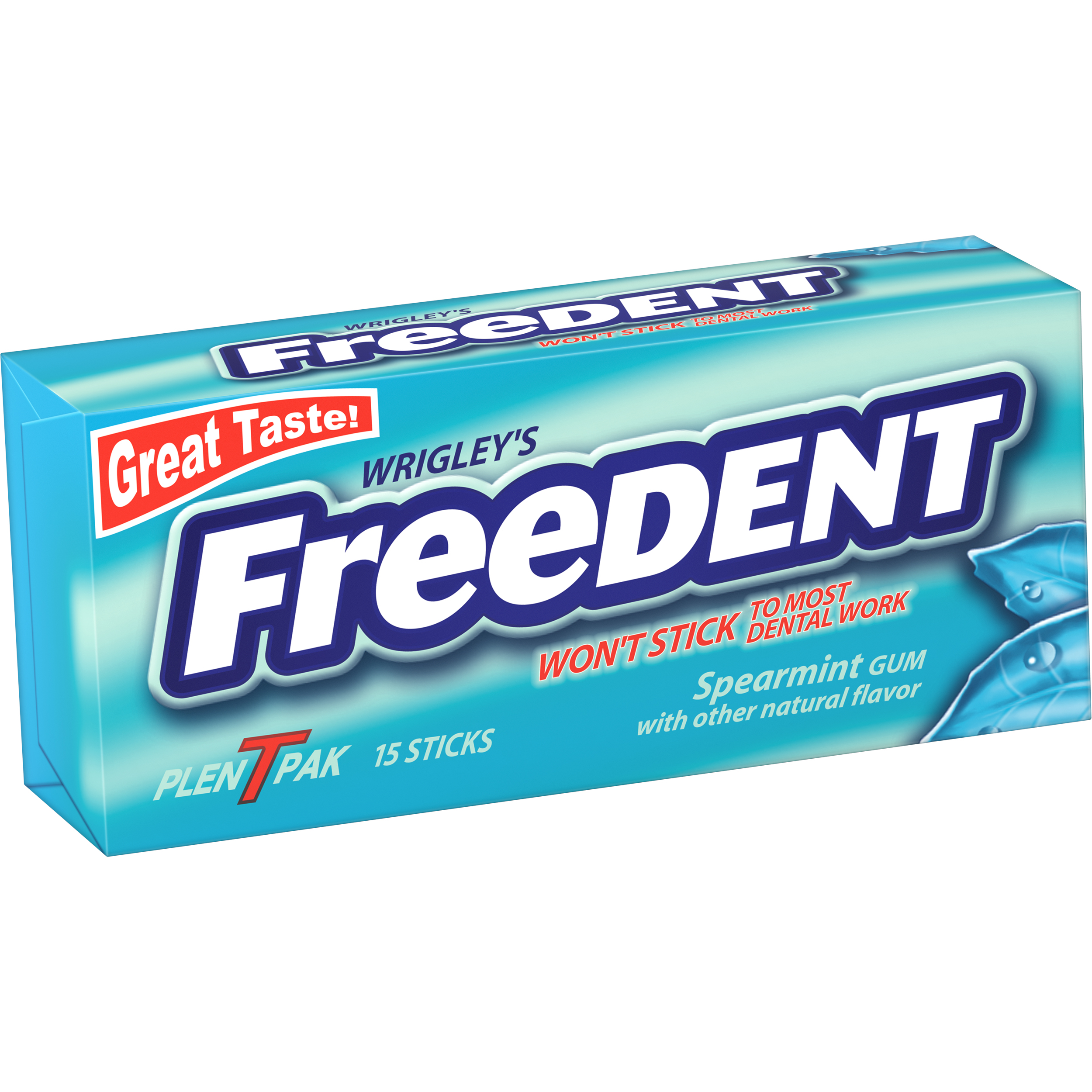 Wrigley's Freedent, Spearmint Chewing Gum, 8 Ct