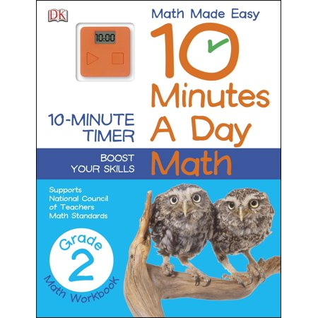 10 Minutes a Day: Math, Second Grade : Supports National Council of Teachers Math Standards](Halloween Math Games For 2nd Grade)