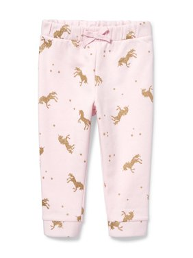 The Children's Place Glitter Unicorn Drawstring Jogger Pants (Baby Girls & Toddler Girls)