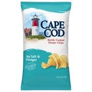 Cape Cod Potato Chips, Sea Salt and Vinegar Kettle Cooked Chips, 8 Oz