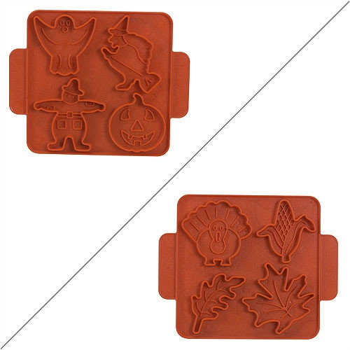Nordic Ware Kitchenware Halloween / Harvest Cookie Cutter Sheet