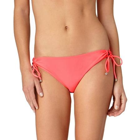 Lowrider Tie Side Bikini Bottoms - Collections By Women's Solid Side Tie Scoop Bikini Swimsuit Bottom