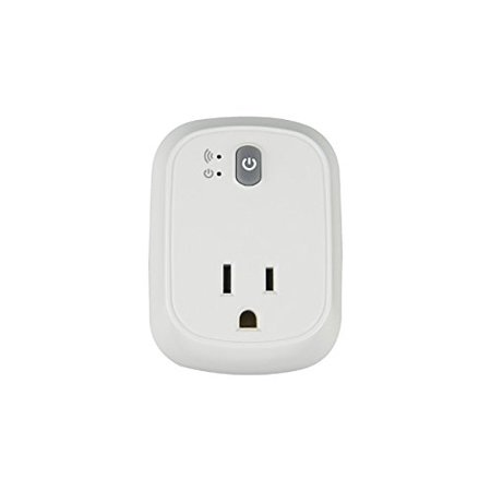 Simple Touch Indoor WiFi Smart Plug With 1 Grounded Outlet, White (Smart Plug Wifi Dimmer)