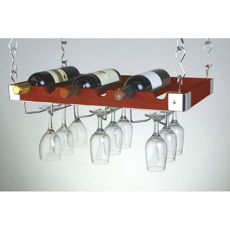 Ceiling or Wall Mount Wooden Wine Rack by Group5 Mktg/Concept Housewares