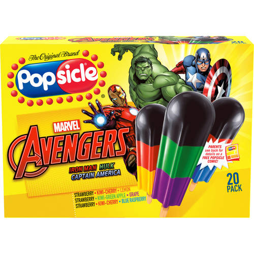 Popsicle Super Heroes Pop 1.6 Oz Ice Pops, 20 Ct