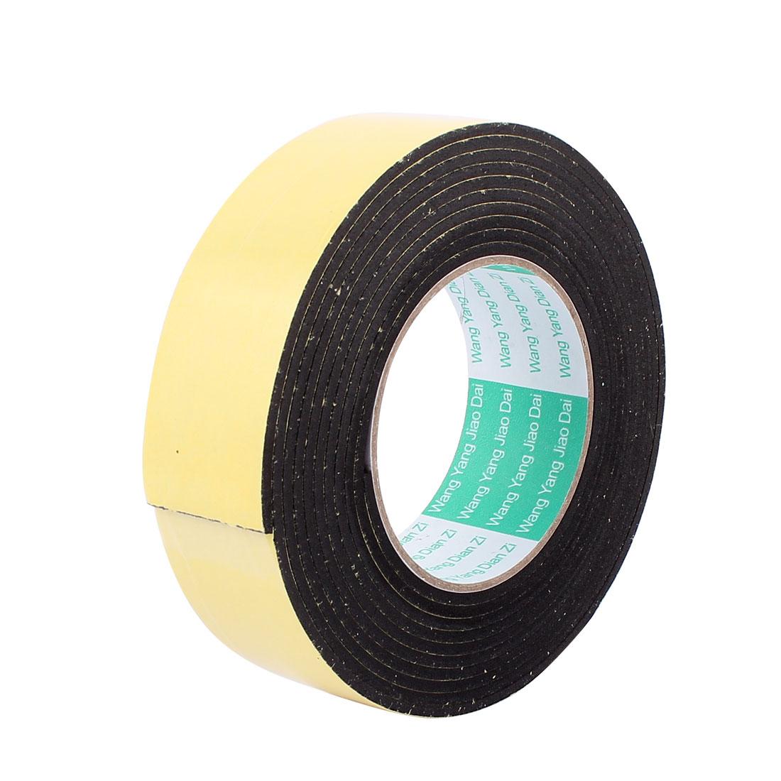 Black EVA 4CM Wide 4M Length 3MM Thick Single Sided Shockproof Sponge Tape