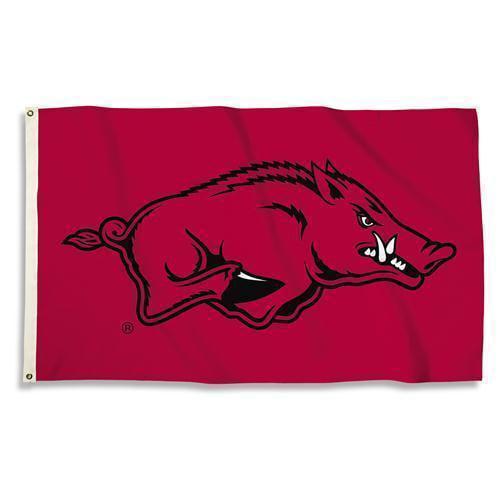 Arkansas Razorbacks 3 Ft. X 5 Ft. Flag W/Grommets  - Collegiate Licensed #35242