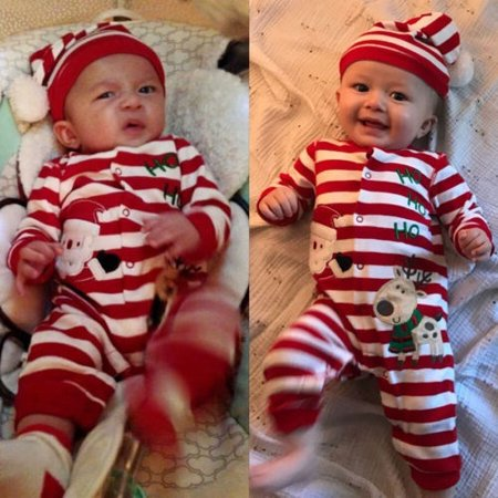 Christmas Baby Kids Boy Girl Toddler Romper Jumpsuit Bodysuit Clothes Outfit Set