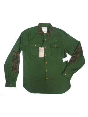 b642773d Product Image NEW REQUEST PREMIUM FOREST GREEN UTILITY CAMOUFLAGE DETAILED  CASUAL SHIRT SIZE S