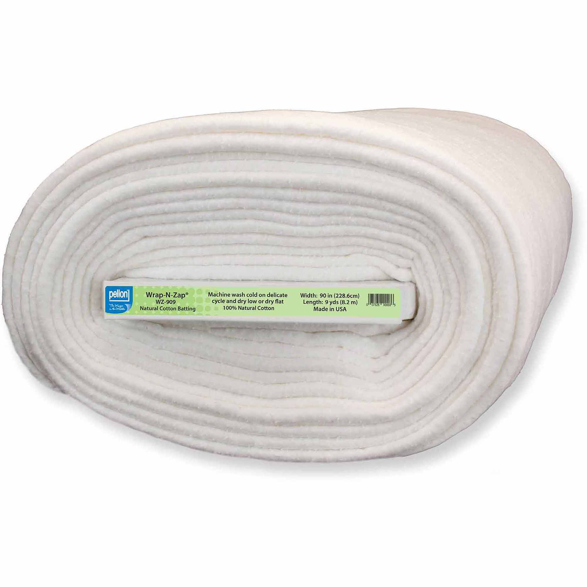 "Pellon Wrap-N-Zap Natural Cotton Batting, 90"" Wide, 9 Yard Bolt"