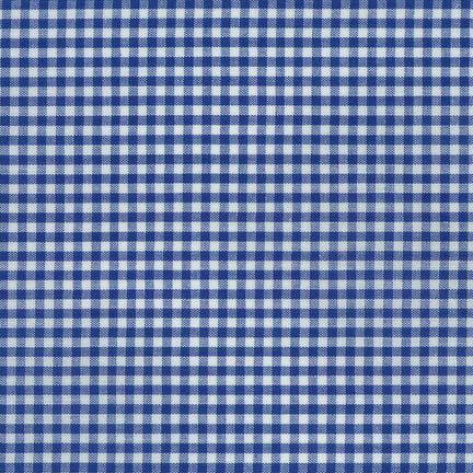 Blue Gingham Fabric (Robert Kaufman Carolina Gingham Check Eighth Inch Royal)