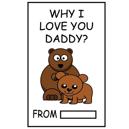 Why I Love You Daddy? : Fill in the Blank Gift for Daddy Personalized Gift for Daddy Father's Day Gift, Daddy's Birthday Gift and Daddy's Christmas Gift ()