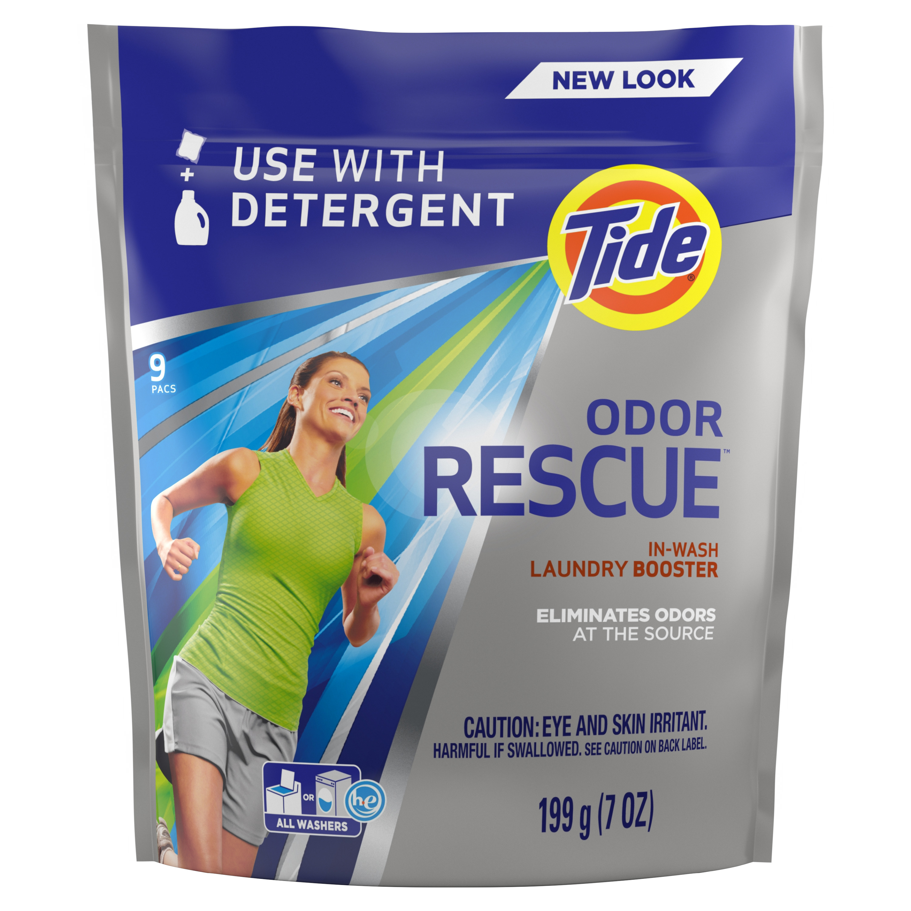 Tide Odor Rescue In-Wash Laundry Booster, 9 pacs