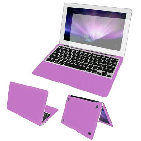 Full Body Wrap Guard Decal Black + Screen Film + Dust Plug for Macbook Air 13u0022