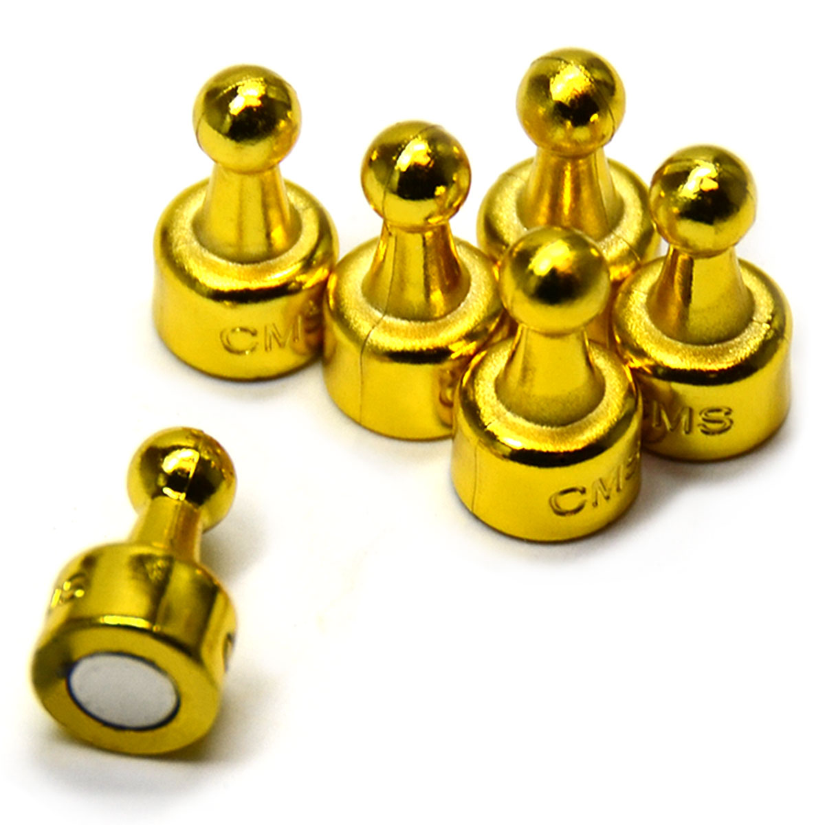 24 Ct. NeoPin® Gold Magnetic Push Pins - Super Strong Neodymium Magnets. Great for Magnetic Whiteboards, Refrigerators, other Applications