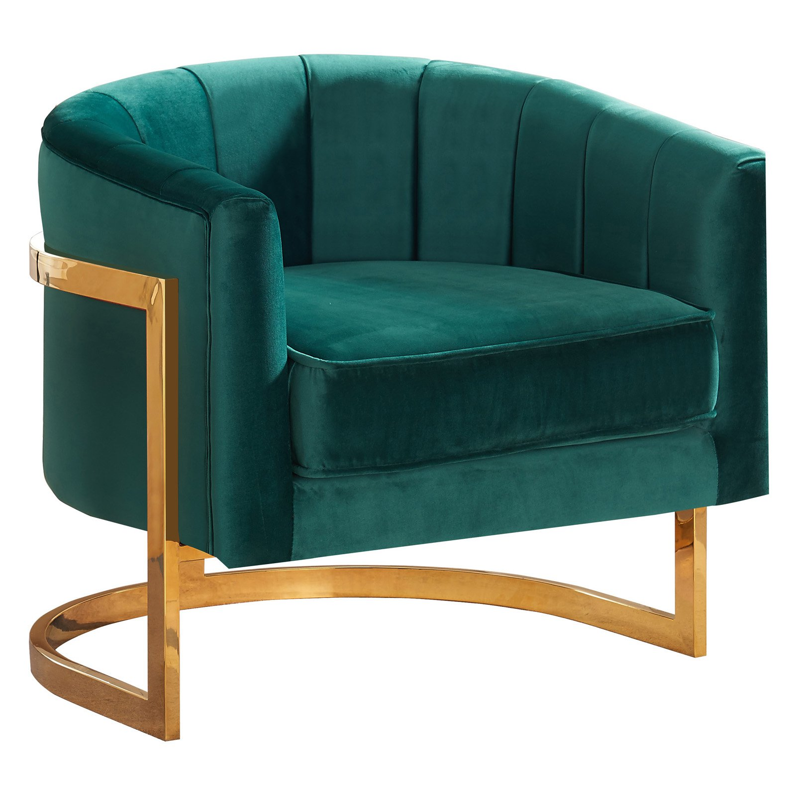 Meridian Furniture Inc Carter Velvet Accent Chair