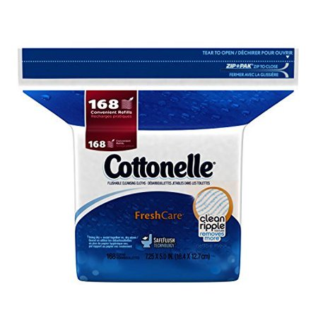 Fresh Care Flushable Moist Wipes Refill, 168ct by, Cottonelle Fresh Care Flushable Moist Wipes Refill, 168ct By Cottonelle