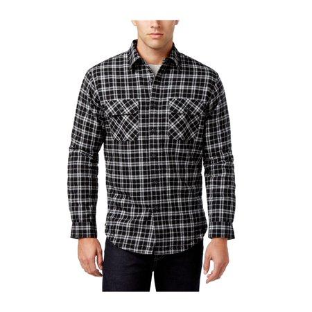 Club Room Mens Sherpa Lined Plaid Shirt Jacket (Sherpa Lined Shirt)