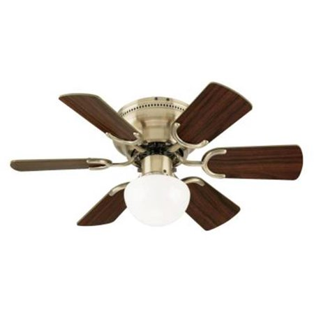 30-Inch Indoor Ceiling Fan with Light Kit with Antique Brass Finish