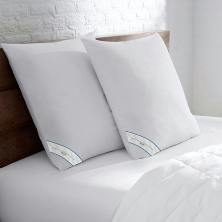 - Set of 2 Beauty Sleep Premium Hypoallergenic Down Alternative Euro Square Pillow Insert (26