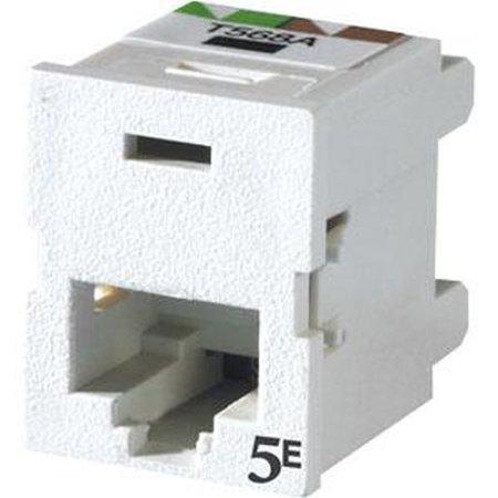 Ortronics TJ5E00-88 Tracjack,C5E,Clarity,T568A/B Flush,White