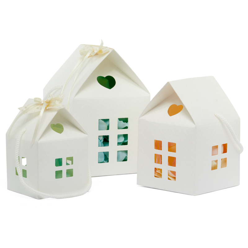25ea - 4-3/4 X 4-3/4 X 4-3/4 Ivory House Gift Box-Pk by Paper Mart