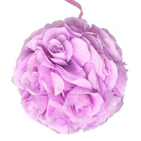 Silk Flower Kissing Balls Wedding Centerpiece, Lavender, 10-Inch - Lavender Centerpieces