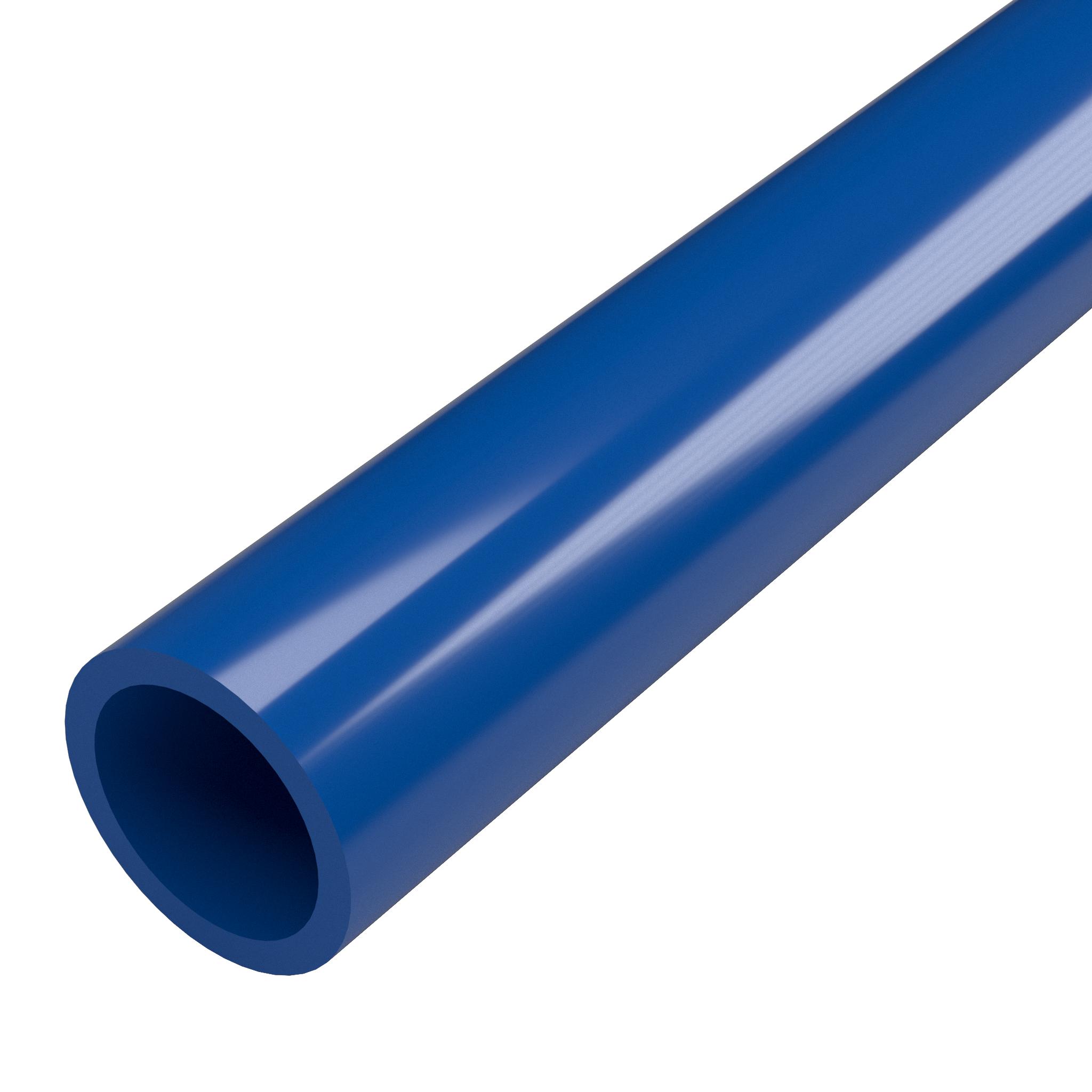 """FORMUFIT P001FGP-BL-5 Schedule 40 PVC Pipe, Furniture Grade, 5-Feet, 1"""" Size, Blue"""