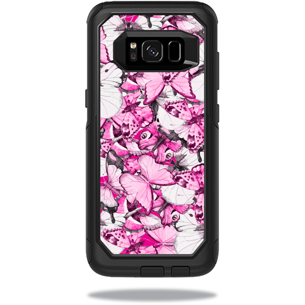MightySkins Protective Vinyl Skin Decal for OtterBox CommuterSamsung Galaxy S8 Case sticker wrap cover sticker skins Butterfly Love