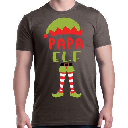 Shop4Ever Men's Papa Elf Costume Funny Christmas Merry Xmas Graphic T-shirt