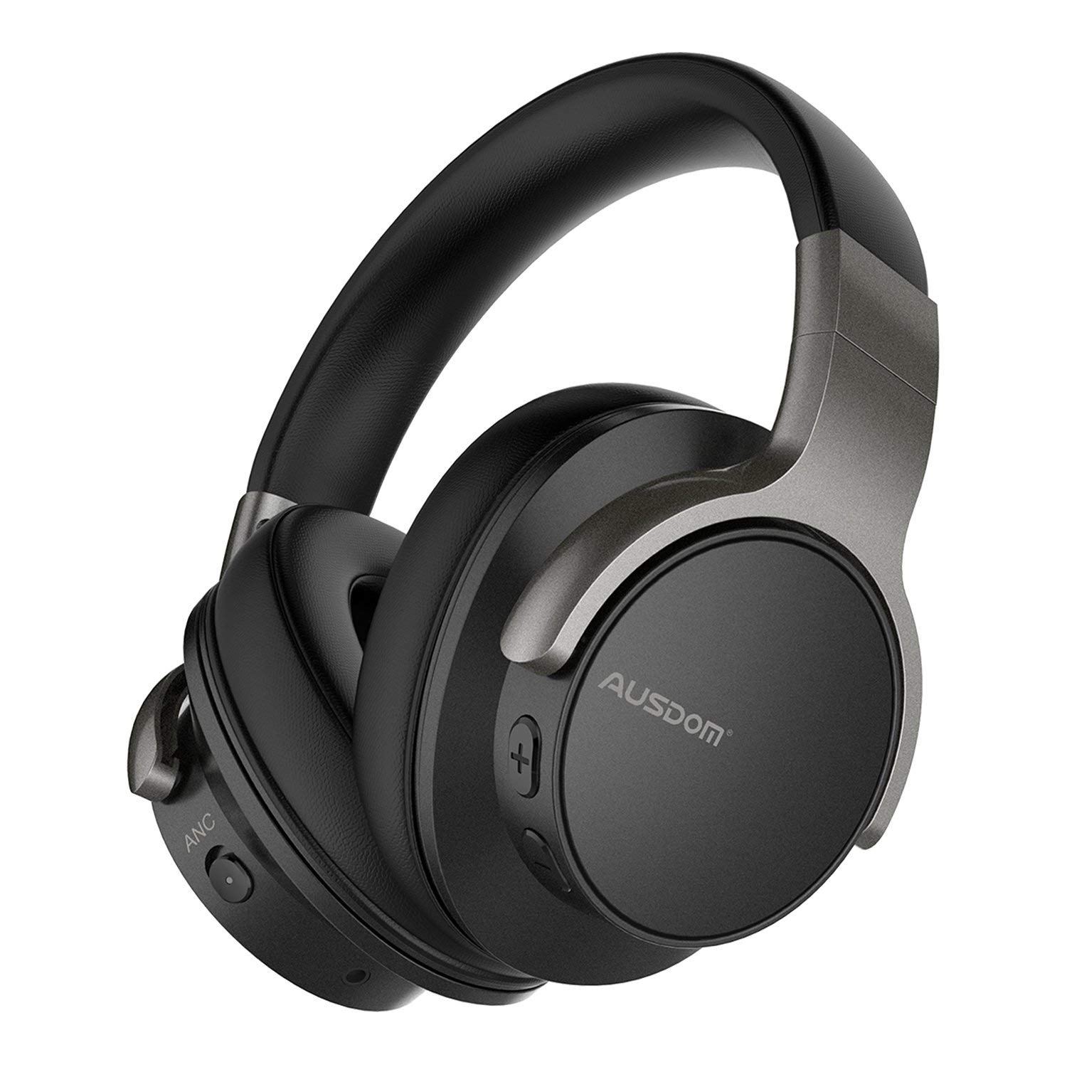 Active Noise Cancelling Bluetooth Headphones AUSDOM ANC8 Wireless Over-Ear Headset with HiFi & Earpad & Built-in Microphone & 30 Hours Playtime