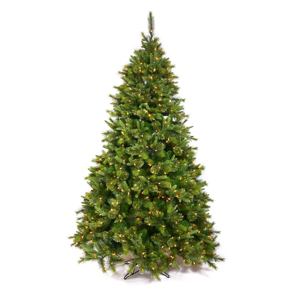 9.5' Pre-Lit Mixed Pine Cashmere Artificial Christmas Tree - Clear LED Lights