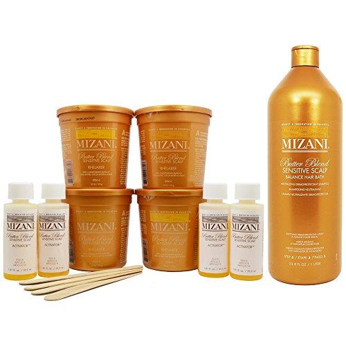 """Mizani Butter Blend Relaxer Kit and Sensitive Scalp Balance Hair Bath """"Set"""""""