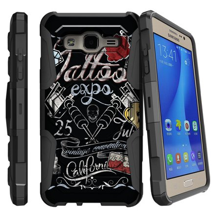 Samsung Galaxy On5 Case | Galaxy On5 Phone Case [ Armor Reloaded ] Extreme Rugged Cell Phone Cover with Kickstand and Belt Clip - Tattoo Expo
