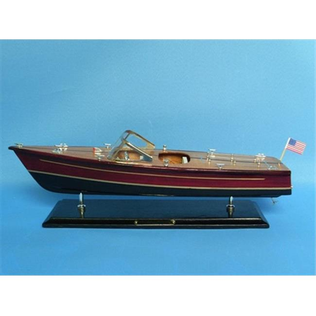 Handcrafted Model Ships Dual Cockpit 20 Chris Craft Dual Cockpit 20 in. Decorative Speed Boat by Handcrafted Model Ships