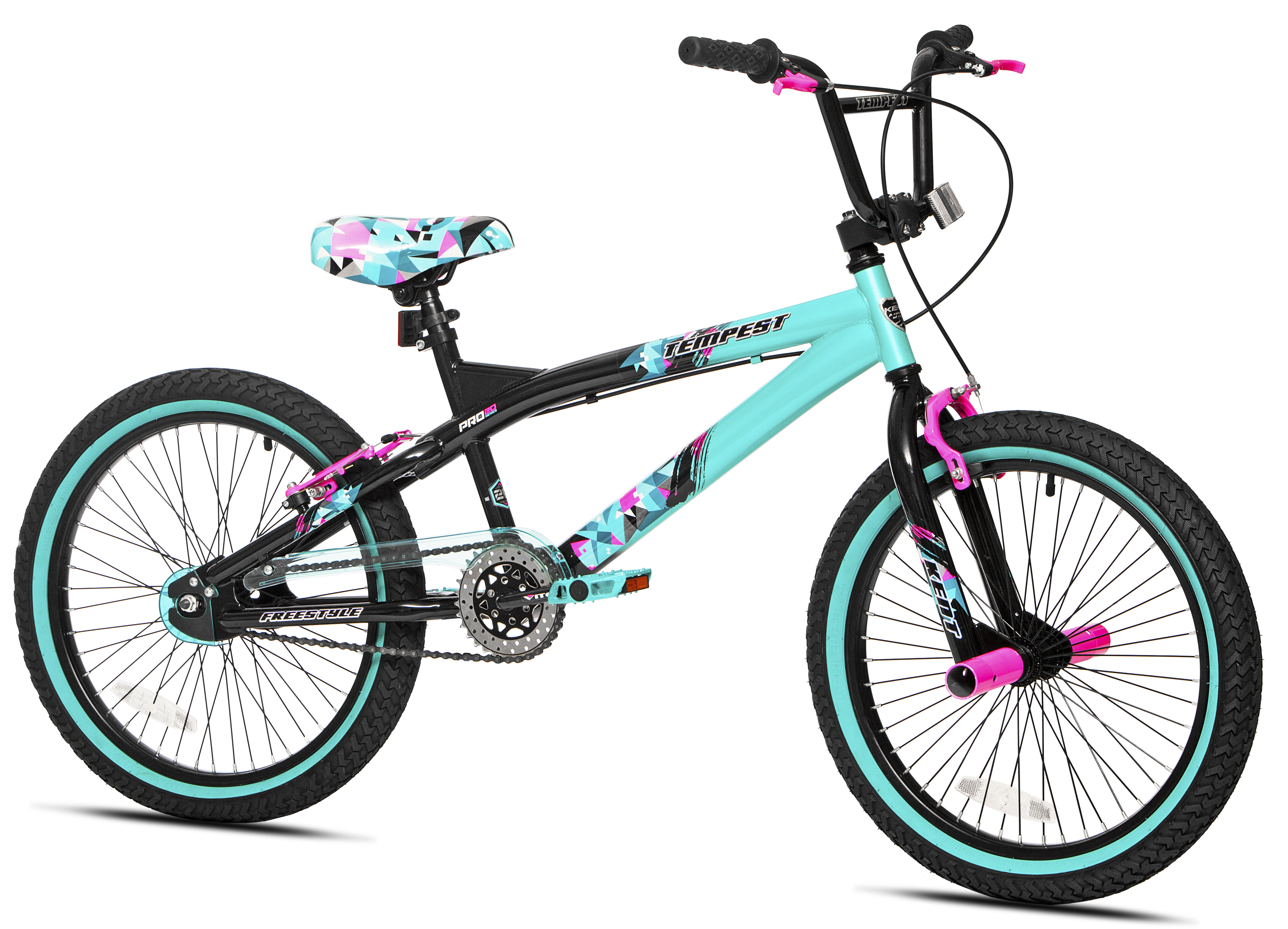"Kent 20"" Tempest Girl's Bike, Black Green, For Height Sizes 4'2"" and Up by Kent International Inc"