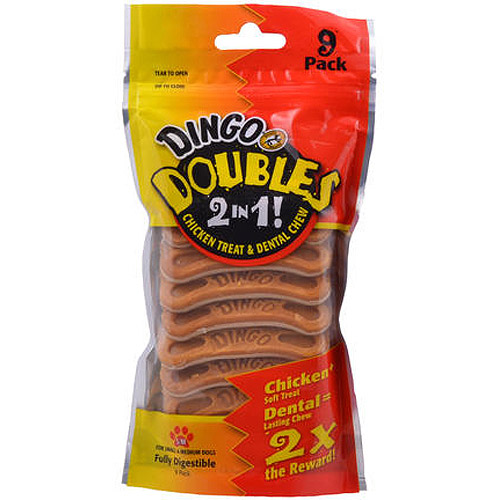 Dingo Doubles, Chicken, 9-Pack