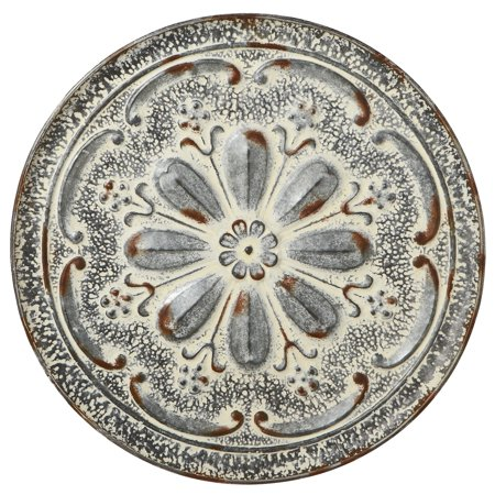 CBK Metal Distressed Round Flower Medallion Wall Decor 157935 ()
