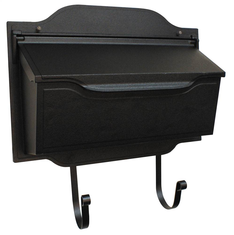 Contemporary Horizontal Mailbox in Black (Black)