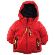 Rugged Bear Little Boys' Upslope Snow Puffer Hooded Winter Jacket Ski Coat 2T