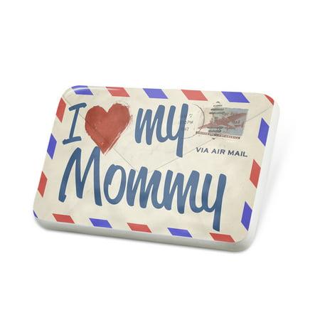 Porcelein Pin I Love my Mommy, Vintage Letter Lapel Badge – NEONBLOND